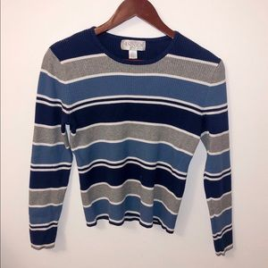 vintage Striped Ribbed Sweater